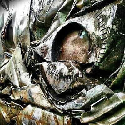Steel Photograph - Scrap Metal by Elisa Franzetta