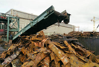 Scrap Metal Yard Photograph - Scrap Metal Yard by Ria Novosti