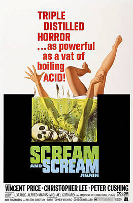 Scream And Scream Again, 1-sheet Poster Art Print by Everett