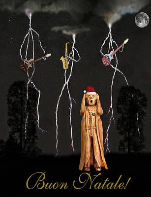 Mixed Media - Scream Buon Natale by Eric Kempson
