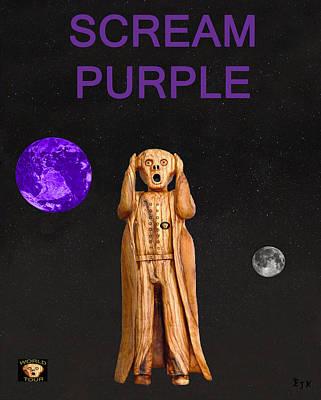 Scream Purple Art Print by Eric Kempson