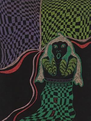 Abstract Gel Pen Drawing Drawing - Scream Series 3 by Toni Hooper
