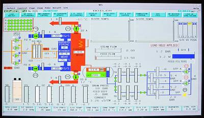 Screenshot Photograph - Screenshot Of A Boiler Control System by Paul Rapson