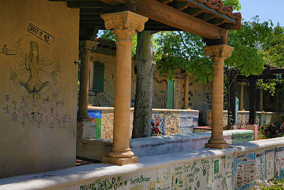 Claremont Colleges Photograph - Scripps College Walls by Steven Ainsworth