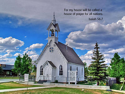 Photograph - Scriptue And Picture Isaiah 56 7 by Ken Smith