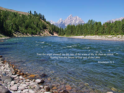 Photograph - Scripture And Picture Revelation 22 1 by Ken Smith