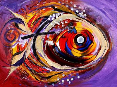 Scripture Fish Art Print by J Vincent Scarpace