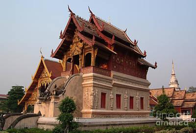Scripture Repository Wat Phra Singh Chiang Mai Print by Opas Chotiphantawanon