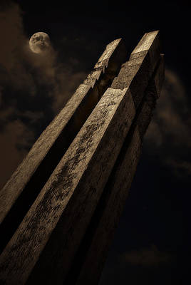 Photograph - Sculpture By Moonlight by Meirion Matthias