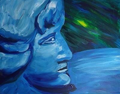 Statue Portrait Painting - Sculpture  by Erin Christine Heath