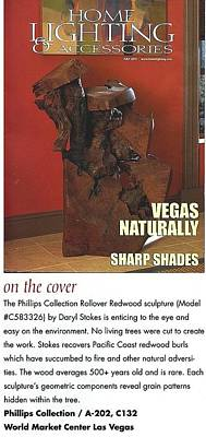 Sculpture - Sculpture Featured On Cover Of National Magazine by Daryl Stokes