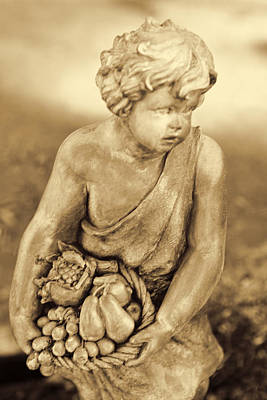Sculpture In Sepia Art Print by Linda Phelps