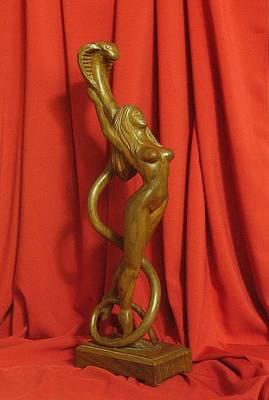 Sculpture Of Eve Art Print by Goran