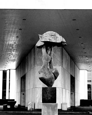 Photograph - Sculpture Under Building Two by Jessica J Murray