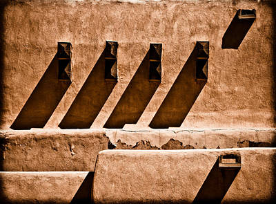 Photograph - Albuquerque, New Mexico - Scupper Beam by Mark Forte