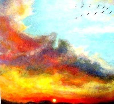 Painting - Scurrying Towards Heaven by Marie-Line Vasseur
