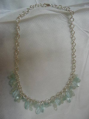 Sterling Silver Chains Jewelry - Sea And Sky by Dr B Lynn Tillman