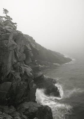 Landscape Photograph - Sea Cliffs And Mist by Roupen  Baker