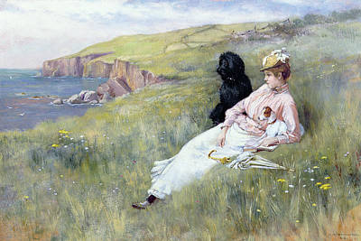 Dog In Landscape Painting - Sea Dreams by Charles Trevor Garland