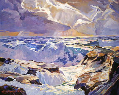 Malibu Painting - Sea Foam Green by David Lloyd Glover