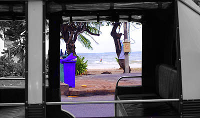 Tuk Tuk Photograph - Sea From A Thai Tuk Tuk by Sumit Mehndiratta