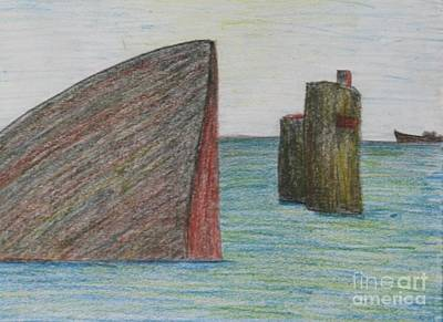 Squares Digital Art Drawing - Sea Front by Nedunseralathan R