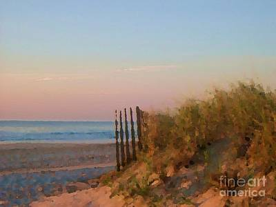 Digital Art - Sea Isle Dawn by Denise Dempsey Kane