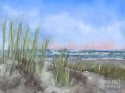 Digital Art - Sea Isle Dunes by Denise Dempsey Kane