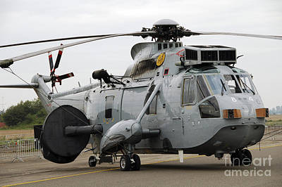 Air Component Photograph - Sea King Helicopter Of The Royal Navy by Luc De Jaeger