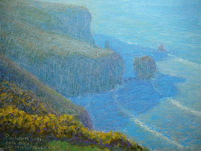 Painting - Sea Mist On Fallen Arch by Terry Perham