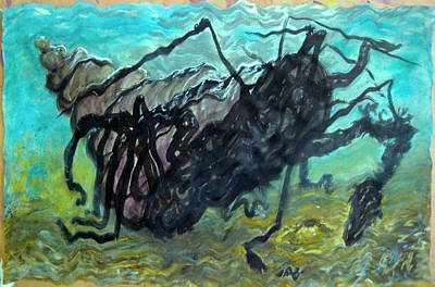 Painting - Sea Monster  Mounstro Marino by Raul Morales