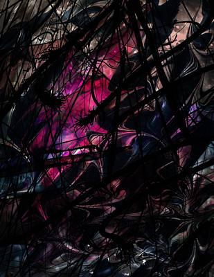 Lightning Digital Art - Sea Monster by Rachel Christine Nowicki