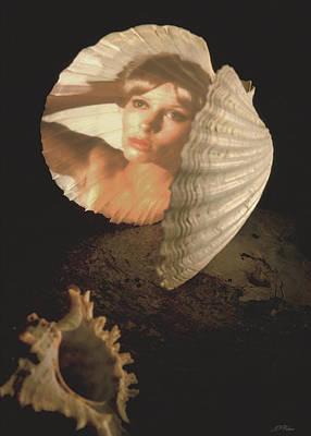 Fantasy Photograph - Sea Nymph's Mirror Card by John Neville Cohen