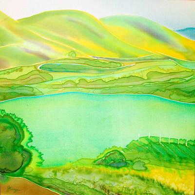 California Vineyard Painting - Sea Of Grass Waves Of Mustard by Jill Targer