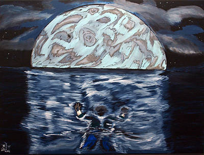 Depression Painting - Sea Of Troubles by Lisa Brandel