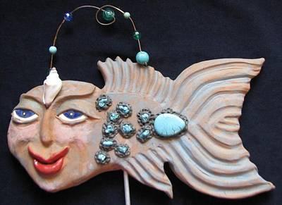 Ceramic Art - Sea Sprite - Alicia by Judy  Hensley