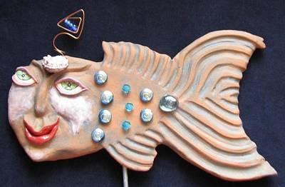 Ceramic Art - Sea Sprite - Corine by Judy  Hensley