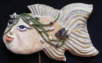 Ceramic Art - Sea Sprite - Kristina by Judy  Hensley