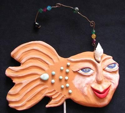 Ceramic Art - Sea Sprite - Rosella by Judy  Hensley