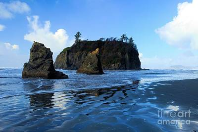Photograph - Sea Stacks At Ruby by Adam Jewell