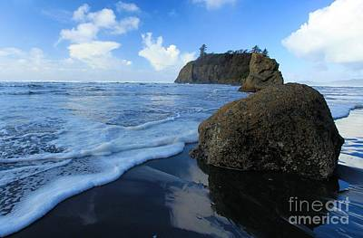 Photograph - Sea Stacks In The Surf by Adam Jewell