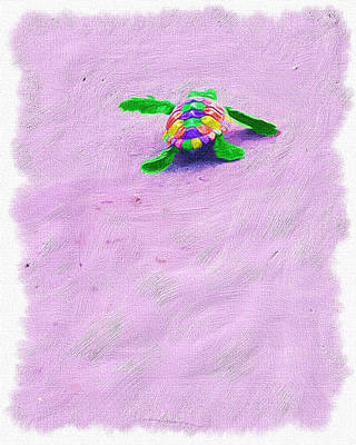 Sea Turtle Escape Art Print