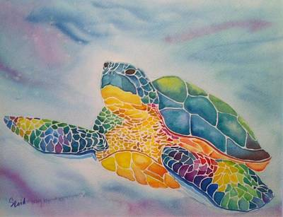 Painting - Sea Turtle by Stephanie Reid