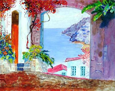 Painting - Sea View by Kostas Dendrinos