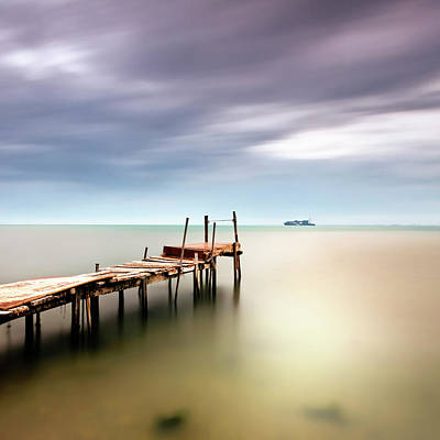Clouds Over Sea Photograph - Sea View by Vassilis Tangoulis