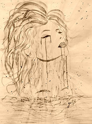 Abstract Seascape Digital Art - Sea Woman 2 by Georgeta  Blanaru