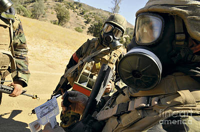 Obscured Face Photograph - Seabees Conduct Decontamination Wash by Stocktrek Images