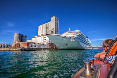 Photograph - Seabourn Sojourn In Copenhagen. by Clare Bambers