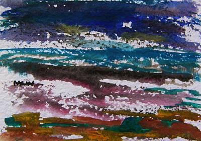 Seacoast Drawing - Seacoast Evening by Mary Carol Williams