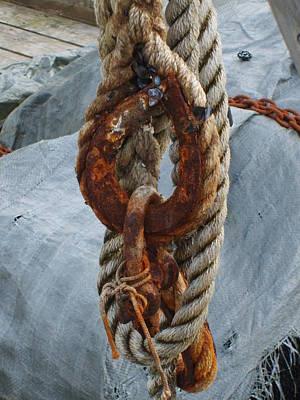 Sail Cloth Photograph - Seafarer's Rigging by Judith Hagen